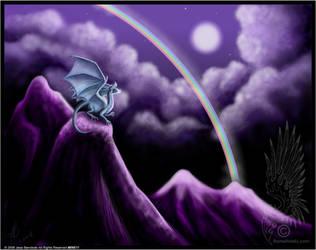 Silver Moonbow Dragon by benwhoski