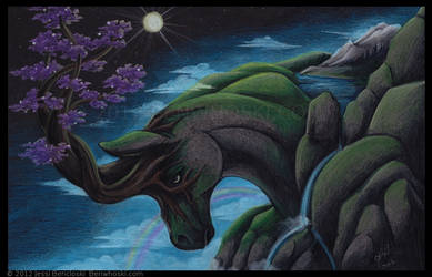 The Noble Steed of Lady Gaia by benwhoski