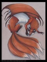 Great Red Foxdragon by benwhoski