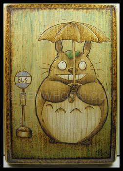 Totoro in the Rain Decorative Plaque