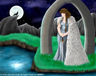 Realm of the Moon Goddess by benwhoski