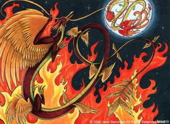 Phoenix Dragon by benwhoski