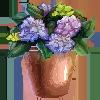 Hydrangeas in a Copper Pot by BlackCherryDraws