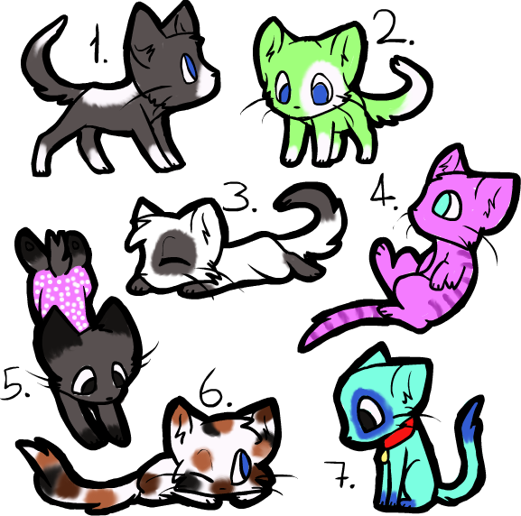 Kats Adoptables by MsAwkwardCanadian