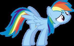 Confused Rainbow Dash by ChryssieTa