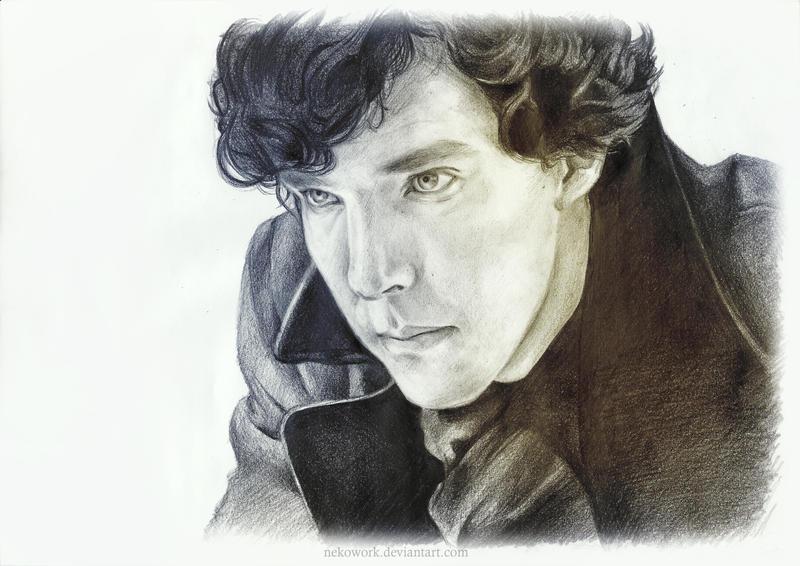 [BBC] Sherlock Portrait by OkenKrow