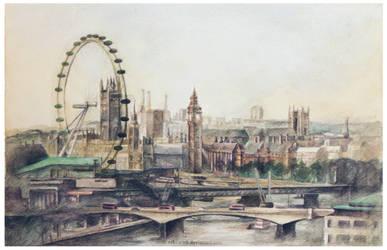 Sherlock Opening - London Watercolor