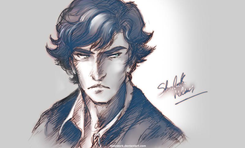 Sherlock Digital Sketch by NekoWork