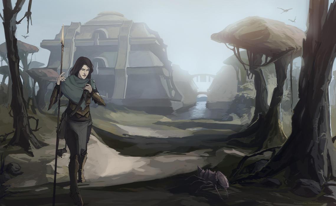 Illustration comission: Nerevarine by Shagan-fury