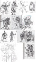 Character design sketches by Shagan-fury