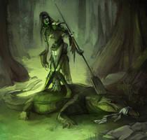 Failed to cross the swamp by Shagan-fury