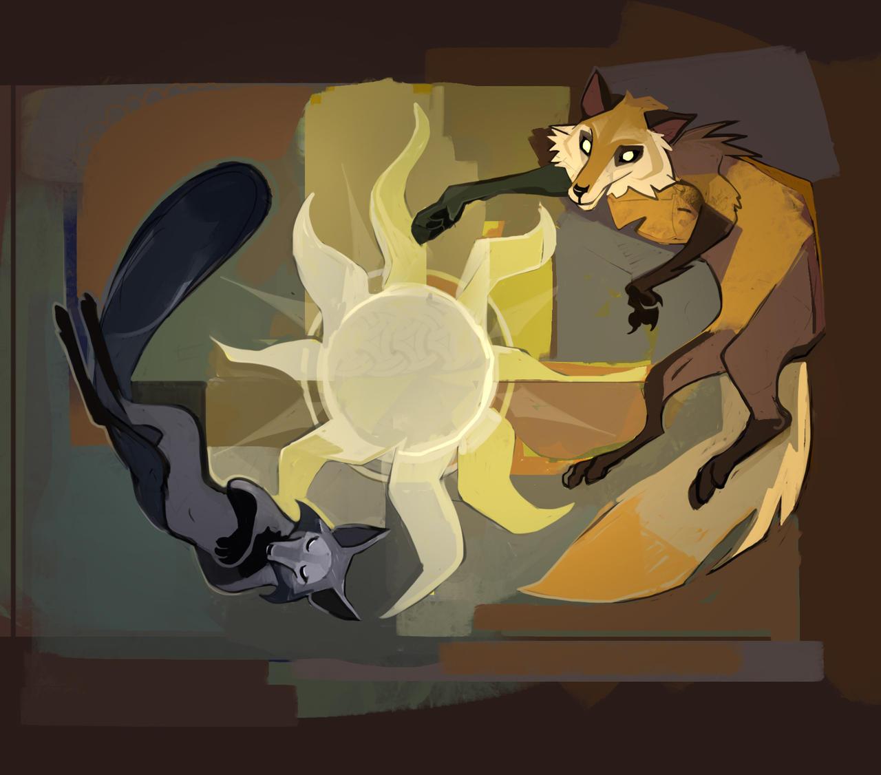 Foxes by Shagan-fury