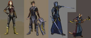 Morrowind characters by Shagan-fury