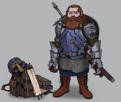 Commision: Dwarf hero by Shagan-fury