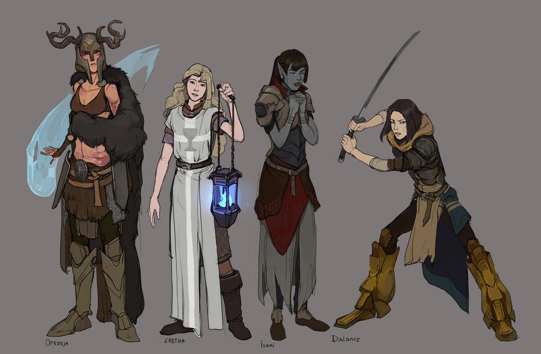 Character designs by Shagan-fury