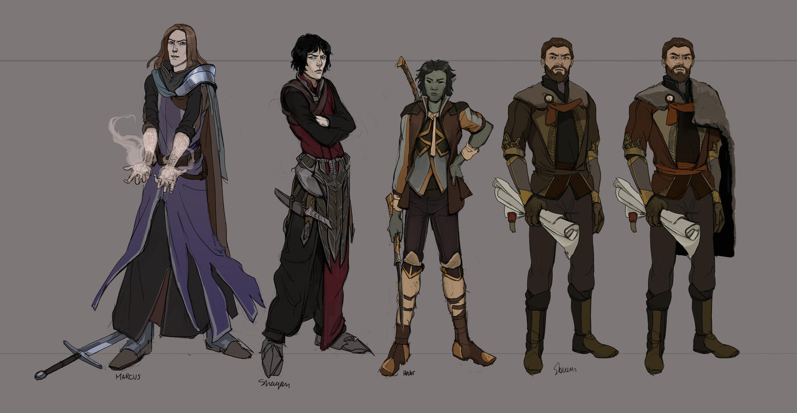 Character designs II by Shagan-fury