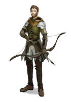 commision:  half elf ranger by Shagan-fury