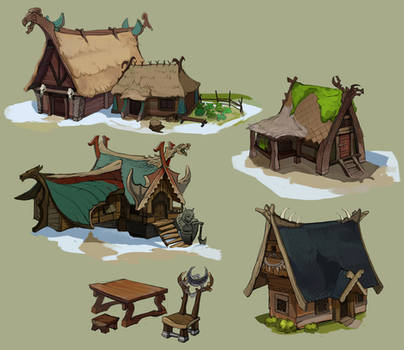 Viking huts and longhouses2