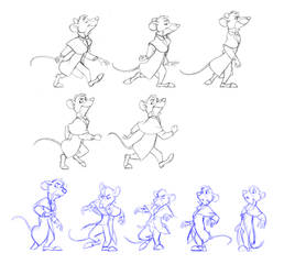 Some walk cycle keyframes