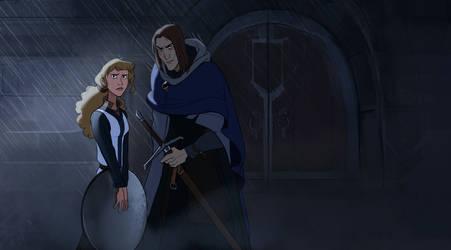 Templar and his apprentice by Shagan-fury