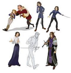 Characters 1 by Shagan-fury