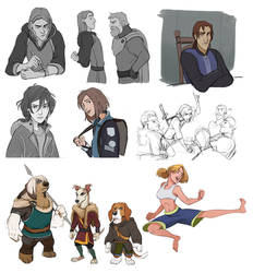 Characters 2 by Shagan-fury
