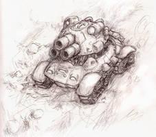 random futuristic tank by shadowspark
