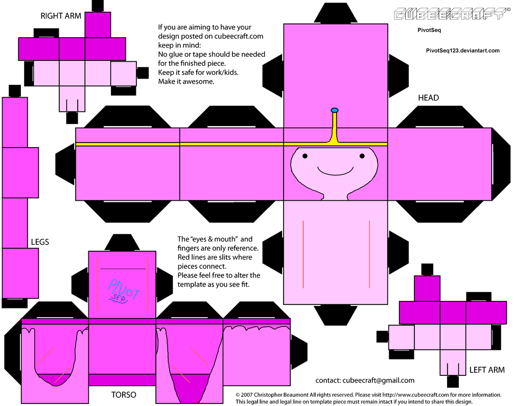 Cubeecraft Adventure Time Princess Bubblegum By PivotSeq123