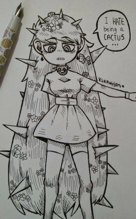 Cactus girl by Kianotyan
