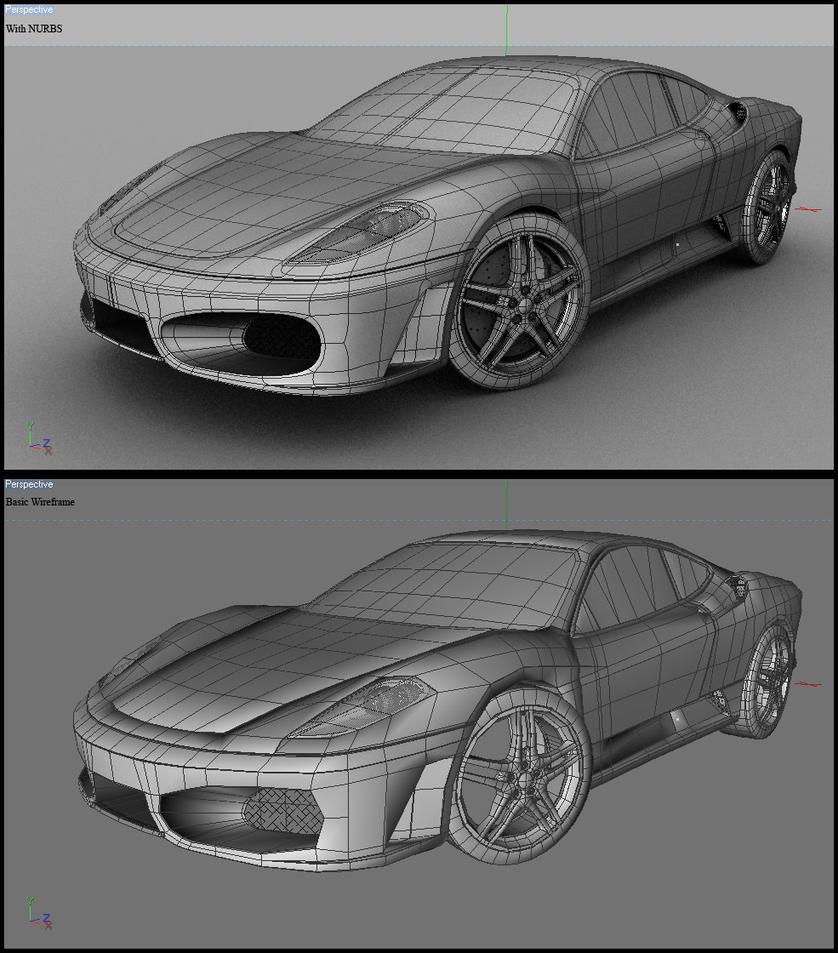 Cenário 3d Ferrari F430 Modelo 3d: Ferrari F430 Wireframe By Tom-3D On DeviantArt