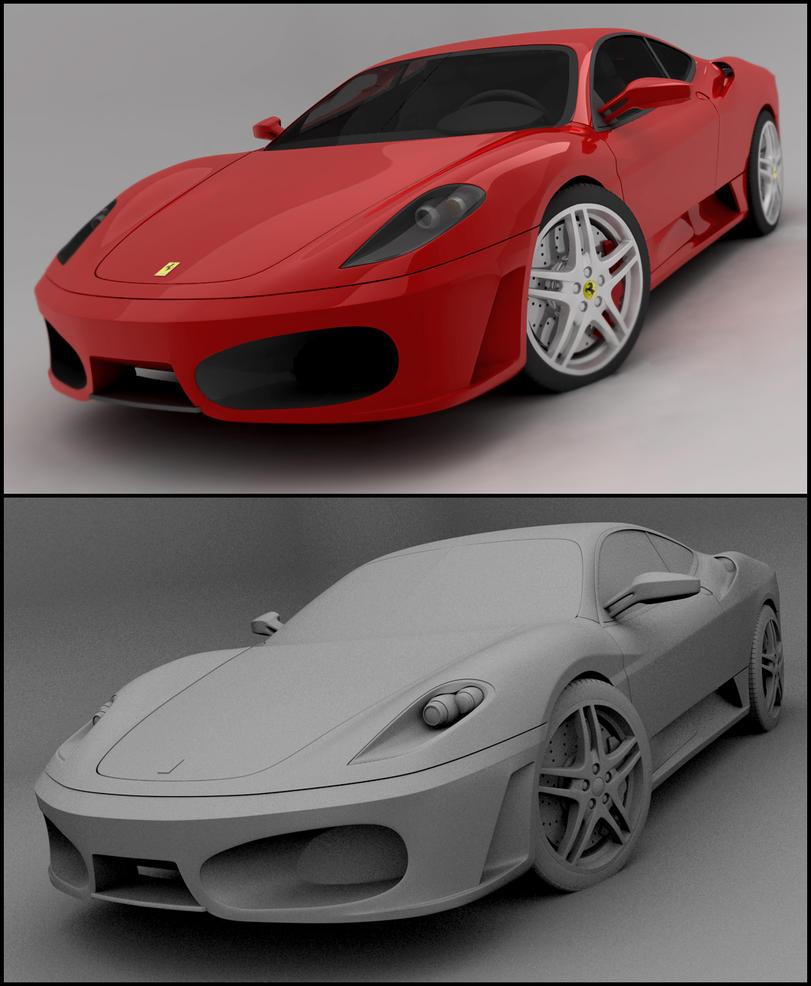 Ferrari F430: Ferrari F430 By Tom-3D On DeviantArt