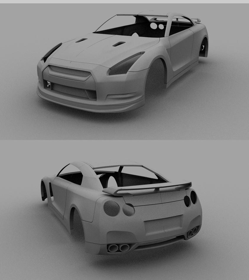 Nissan Skyline R35 Wallpapers Group 79: Nissan GTR W.I.P By Tom-3D On DeviantArt