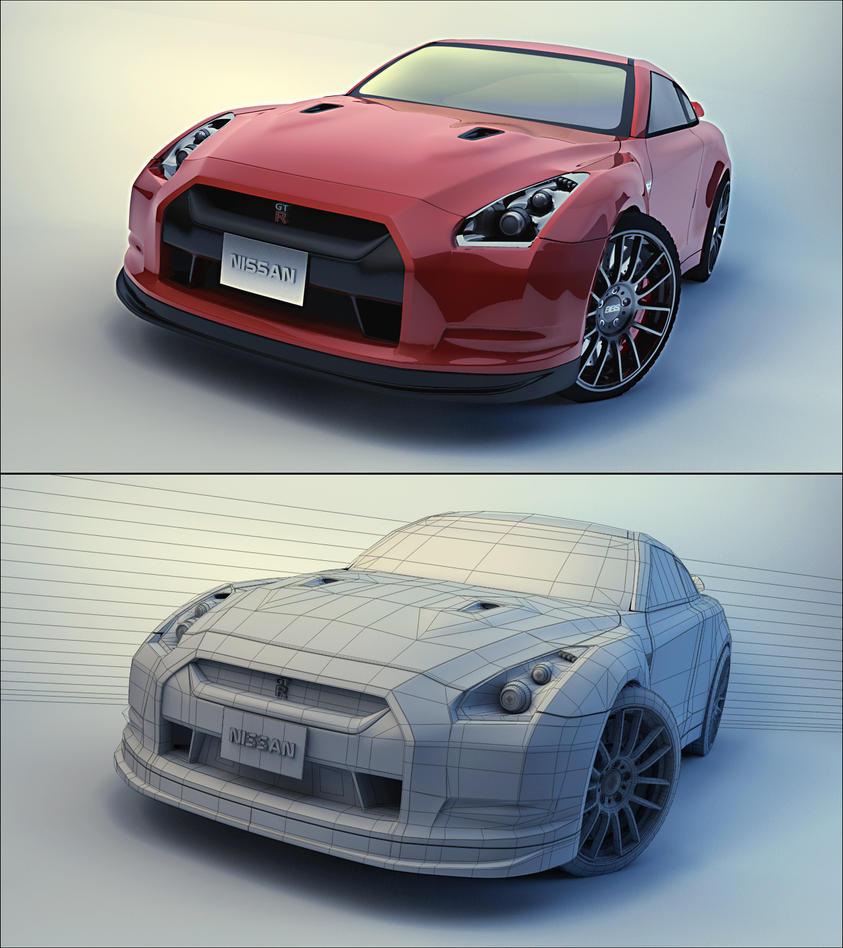 Nissan Skyline R35 Wallpapers Group 79: Nissan GTR By Tom-3D On DeviantArt