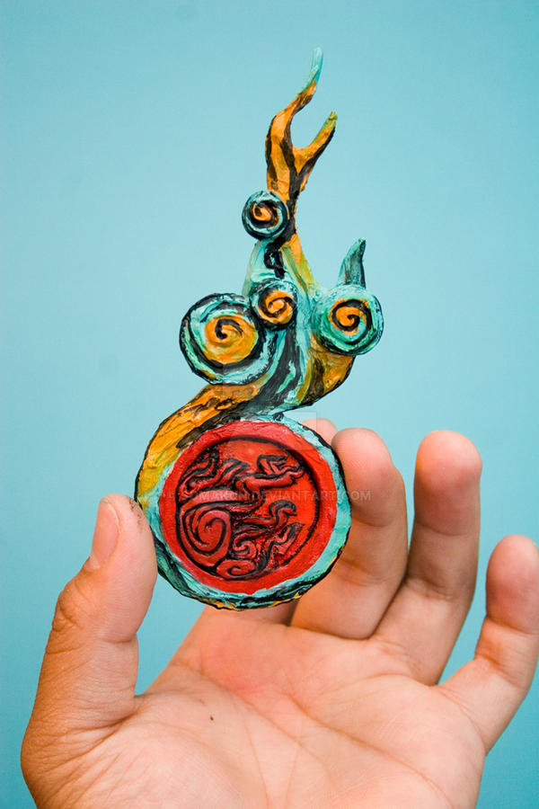 Okami Solar Flare sculpture by SomaKun