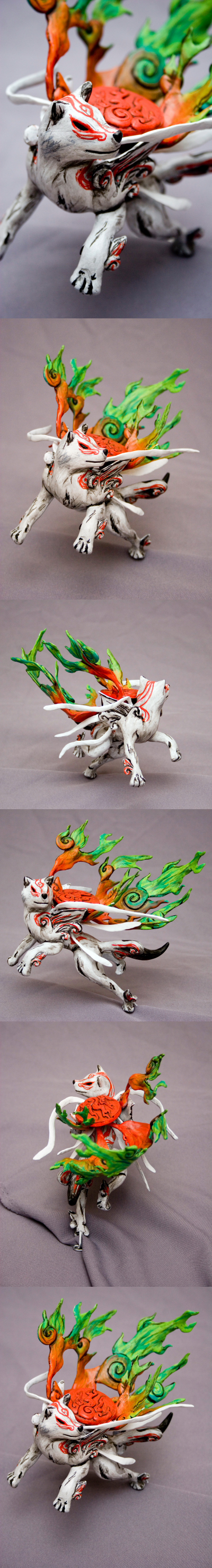 Okami Shiranui sculpture by SomaKun