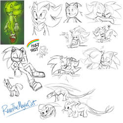 Mess of Doodles by RavenTheMagicCat