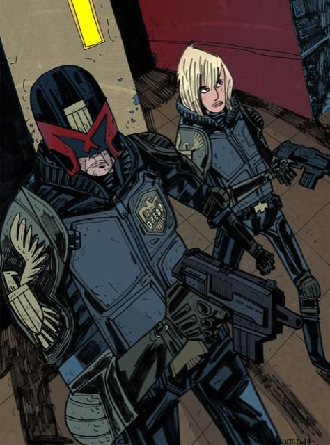 Dredd And Anderson by Ostercy