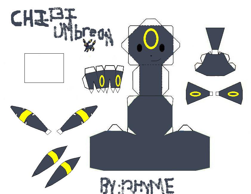 Chibi Umbreon Template by Chibi-Okamiden