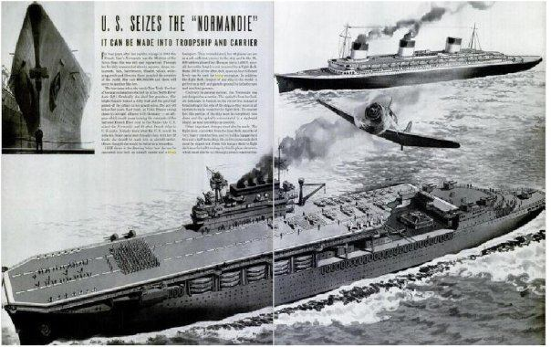 The Ss Normandie As An Aircraftcarrier By