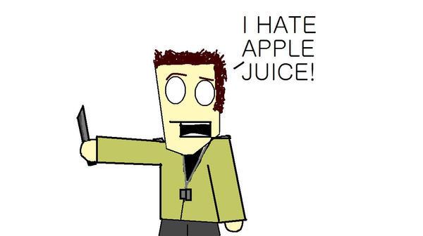 I hate apple juice 2 by DemonBucket