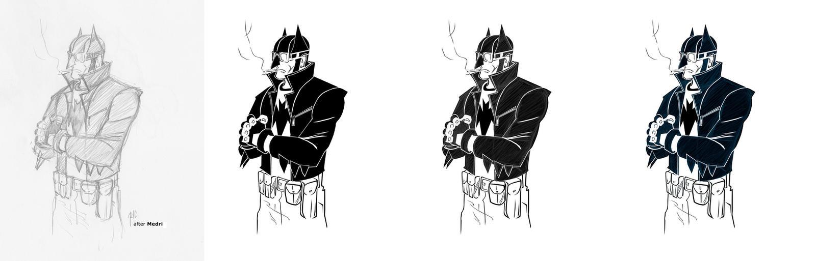 Batman Rockabilly - Evolution II by rubioric