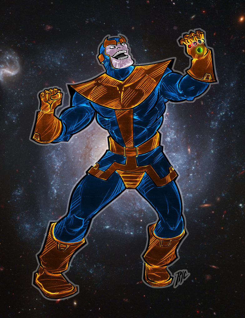 Thanos, the Mad Titan by rubioric