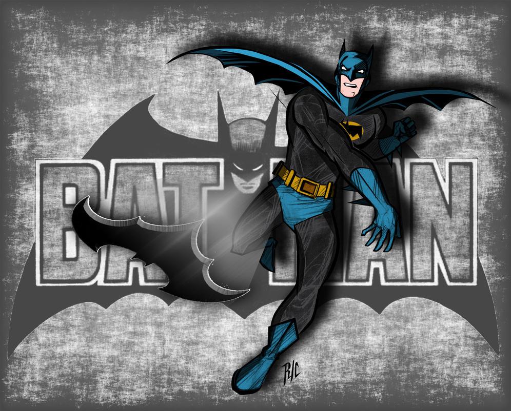 Classic Batman by rubioric
