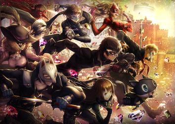 Persona 5 fan art by DevianTakeFreeCanvas