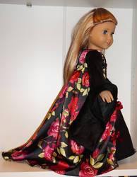 Renaissance Black Rose Gown for American Girl by rhiella