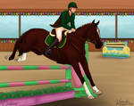 MSH Spring Event - Show Jumping - 1st place!