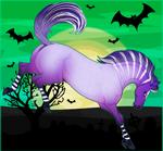 Frolicking Halloween Horse Adopt - CLOSED