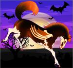 Frolicking Halloween Horse Adopt - SOLD