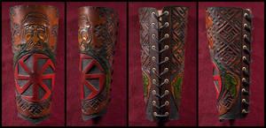 Svarog Bracer Details by Wodenswolf