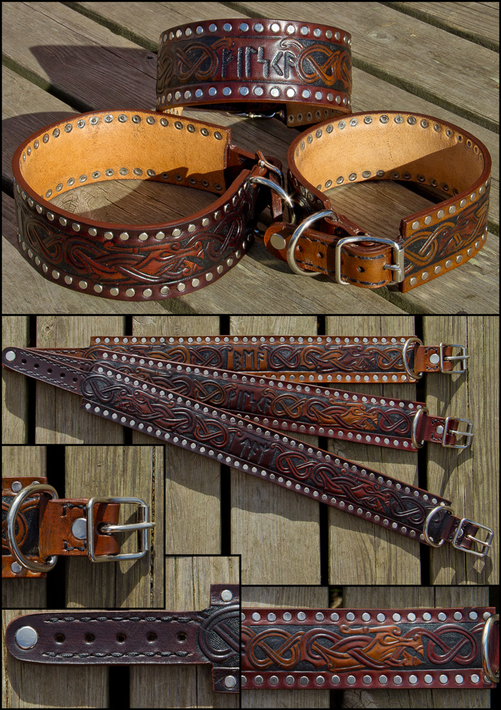 Stafford Viking Dog Collars by Wodenswolf